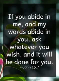Ask whatever you wish... #biblequotes
