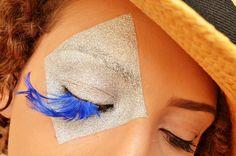 Maquiagem artística Malandro de Ouros com Glitter Passo a Passo Carnaval