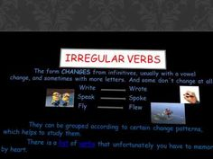 THE PAST SIMPLE TENSE - YouTube Irregular Verbs, Dont Change, The Past, Study, Letters, Writing, Simple, Videos, Youtube