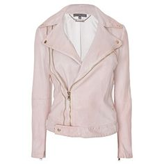 Alexander McQueen, saw this leather jacket in person while packing kirstie alley's closet and i was so tempted to try on the soft buttery blush pink leather!