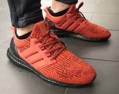 Adidas ultra boost Energy red 3.0 custom blacked out boost