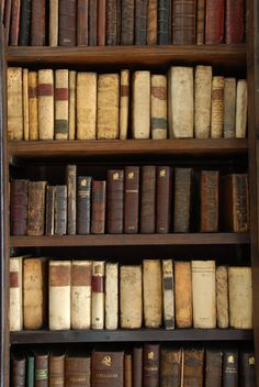 Old old books. there us something genuinely cool about the look, feel and smell of old books . Old Books, Antique Books, I Love Books, Books To Read, Buch Design, Library Books, Reading Books, Closet Library, Library Shelves