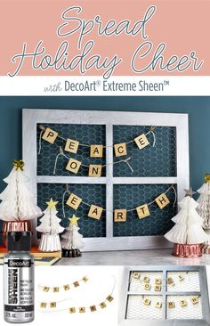 DIY unique decor to spread cheer this Christmas with DecoArt.