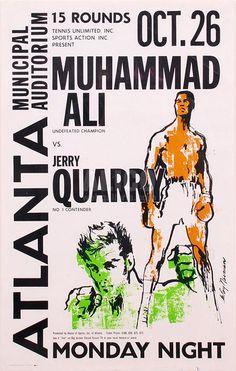 Muhammad Ali vs. Jerry Quarry October 26, 1970  LeRoy Neiman Design