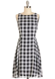 Backyard Boardgames Dress. Playing boardgames outside with your pals brings out your competitive side - and your stylish side, when you face your friendly opponents in this checkered dress! #modcloth