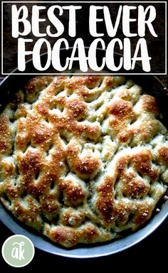 Cold, refrigerated dough is the secret to making delicious focaccia! This focaccia bread recipe takes 5 min to stir together and emerges pillowy and golden. Easy Focaccia Bread Recipe, Artisan Bread Recipes, Pasta, Bread Rolls, Bread Toast, Bread Baking, Sandwiches, The Best, Cooking Recipes