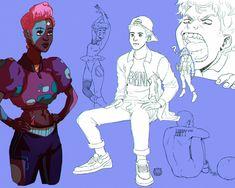 ArtStation - Random Characters VI, Euclides 'Kidi' Gomes My Love, Random, Artwork, Fictional Characters, Work Of Art, Auguste Rodin Artwork, Artworks, Fantasy Characters, Casual
