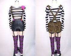 Custom Aerial Silk costume / cirque clown mime costume / circus dance costume / custom order / made to order