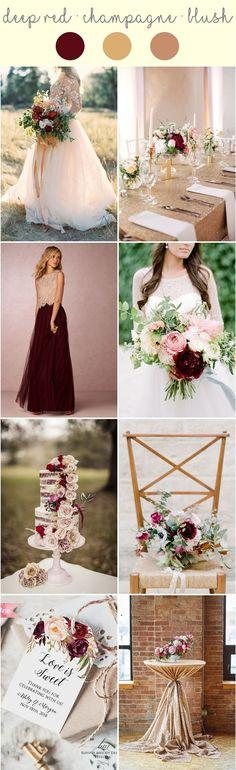 Champagne, blush and deep red wedding inspiration. http://www.theweddingguru.ca/champagne-blush-deep-red-wedding/ #blushwedding #champagnewedding