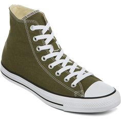 Converse Chuck Taylor All Star High-Top Sneakers ($50) ❤ liked on Polyvore featuring shoes, sneakers, hi tops, traction shoes, rubber sole shoes, unisex shoes and bear trainer
