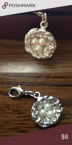 Egg In a Nest Charm This is a ute little egg nest charm! If you like birds and animals you'll love this charm! Looks great on bracelets, necklaces, and even key chains!                                                                       Check out y other charms! Glimmergal16 Jewelry