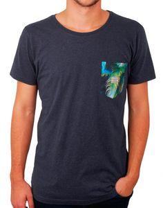 T-shirt bleu pocket Lea homme RVLT - vêtements homme, manteau homme, parka homme