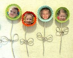 Blooming Bottle Cap Magnets-Turn one of the most classic and fun bottle cap craft ideas into a unique Mother's Day gift or Father's Day present with this tutorial for Blooming Bottle Cap Magnets! These aren't just your ordinary bottle cap projects; these are personalized with a special photo inside! Whether you give these bottle cap magnets to Mom, Grandma or just a special friend, whoever receives this cute, personalized gift is going to love them!