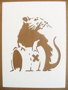 BANKSY Rats Stencils Set Of Five Hip Hop Doormen Toxic
