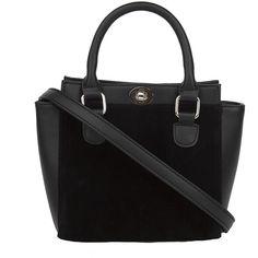 Seline Me Alone Bag - Black (64 CAD) ❤ liked on Polyvore featuring bags, handbags, black, pocket bag, imitation handbags, zipper purse, pocket purse and imitation purses