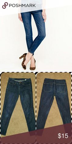 J Crew Toothpick Jean dark wash Skinny jeans in used but good condition J. Crew Jeans Skinny