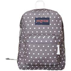 Jansport Superbreak Backpack Grey ($41) ❤ liked on Polyvore featuring bags, backpacks, grey, women, jansport bags, handle bag, polyester backpack, day pack backpack and pocket bag