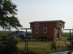 Stephani's tiny house on wheels built to save money while in college in College Station, Texas | pinned by haw-creek.com