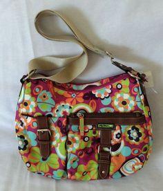 Lily Bloom Dark Fuschia Lime Green Teal Orange Crossbody Hobo Handbag Purse New in Handbags & Purses | eBay