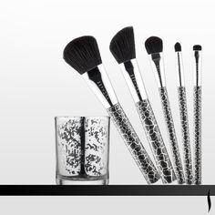 Housed in a chic glass votive, these decorative brushes help create all your looks for holiday—and every day. #SEPHORA COLLECTION Make Spirits Bright Brush Set #BrushingUp