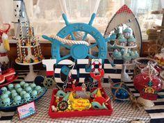 Incredible nautical baptism party! See more party planning ideas at CatchMyParty.com!