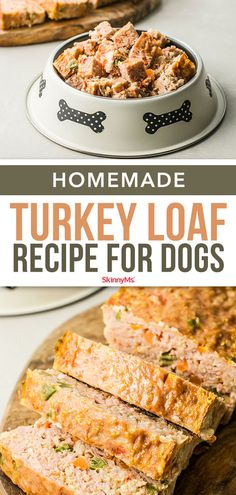 Make this homemade turkey loaf for dogs and you'll know exactly what your best pal is eating. It's a dog food recipe made with high-quality ingredients and no additives. dog food recipes Homemade Turkey Loaf Recipe for Dogs Dog Biscuit Recipes, Dog Treat Recipes, Healthy Dog Treats, Dog Food Recipes, Doggie Treats, Turkey Dog Food Recipe, Healthy Pets, Dog Chews, Steak Recipes