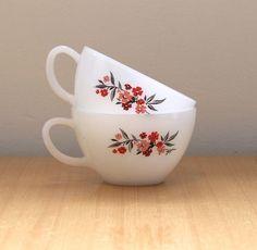 Milk Glass Teacups - Vintage Fire King