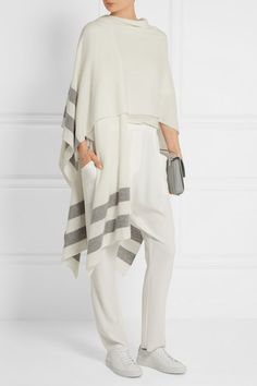 Cream and gray cashmere Slips on 100% cashmere Dry clean