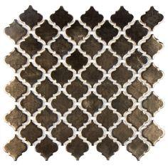 Moroccan Zellige Porcelain Mosaic Bronze