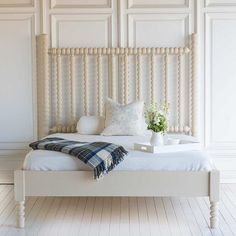 harriet spindle bed in farrow & ball's joa's white                                                                                                                                                                                 More
