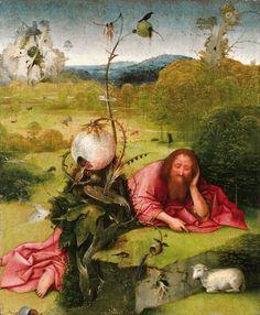Jheronimus Bosch, Johannes de Doper, ca. 1490-95, Madrid, Museo Fundación Lázaro Galdiano. Feb13 till may 9 - 2016, after 500 years back in his home town 's-Hertogenbosch the Netherlands