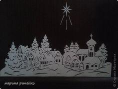 Украшение Новый год Вырезание Новогодние пейзажы Бумага фото 3
