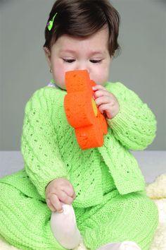 Conjunto de tricô para bebê / DIY, Craft, Upcycle