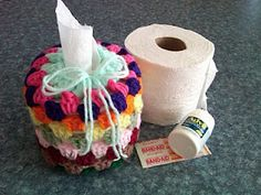 Turn a toilet paper roll into a tissue box. Love it!
