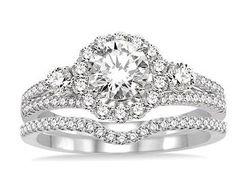 Diamond Halo Engagement Ring ASHI 14711FHWG-WS #seneedhamjewelers #loganutah