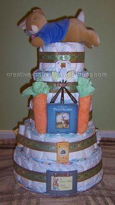 Rabbit Diaper Cake