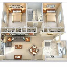 apartment floor plans between oakville and germantown 2 Bedroom House Plans, Sims House Plans, House Layout Plans, Modern House Plans, Tiny Home Floor Plans, 2 Bedroom House Design, Two Bedroom Tiny House, Condo Floor Plans, Bedroom Designs