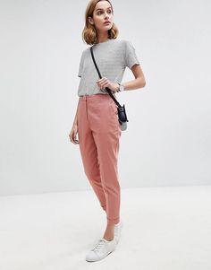 ASOS Tailored Linen Cigarette Trousers
