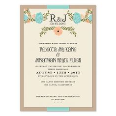 Petite Jardin Wedding Invitation with Ribbon, smitten on paper Unique Invitation Suites, Unique Invitations, Invites, Wedding Wraps, Our Wedding, Dream Wedding, Ribbon Wrap, Floral Artwork, Letterpress Wedding Invitations