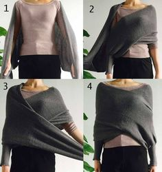 Hold Me Tight Off Shoulder Cross Sweater....This shows how it works, i could copy this!
