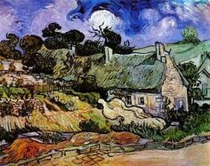 Vincent Van Gogh - Houses with Thatched Roofs, Cordeville