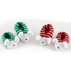 Lion Brand Bonbons Holiday Mouse Slippers