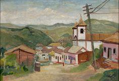 Alberto da Veiga Guignard, Landscape of Sabará, 1950