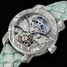 Antoine Preziuso Munionalusta Stella Polare, 45 mm in Munionalusta meteorite case, 110-hour power reserve tourbillon movement, calibre APG28T, piece unique.