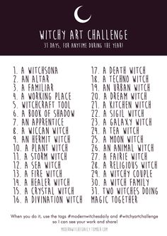 "Vicky Pandora sur Twitter : ""A witchy challenge I created for all witchy artists *:・゚✧ #modernwitchesdaily #witchyartchallenge #witchy https://t.co/W6sPHv59u6"""
