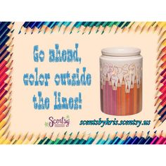 Scentsy's August 2015 Warmer of the Month: Colorgraphy . Perfect for your favorite teacher back to school. #scentsbykris