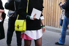 Celine Box bag, yellow