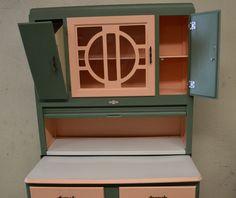 Vintage 1920's Hoosier Cabinet with Flour Sifter Porcelain Top ...