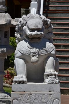Female Lion protecting the temple