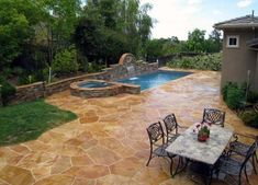 From wood grain to cobblestone styles and beyond, discover the top 50 best stamped concrete patio ideas. Explore simple to maintain outdoor space designs. Concrete Patios, Concrete Patio Designs, Flagstone Patio, Backyard Patio Designs, Patio Ideas, Pool Ideas, Backyard Ideas, Pool Pavers, Backyard Pavilion